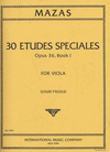 International Music Company Mazas (Pagels): 30 Etudes Speciales Op.36 No.1 (viola) IMC