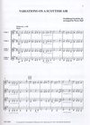 LudwigMasters Hall, Percy: Variations on a Scottish Air (4 violins) score & parts