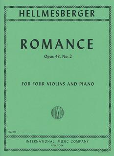 International Music Company Hellmesberger, Joseph: Romance, Op. 43 No. 2 (four violins & piano)