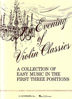 HAL LEONARD Schirmer: An Evening of Violin Classics-Easy Music (Violin & Piano)
