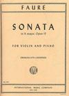 International Music Company Faure, Gabriel (Francescatti): Sonata in A major Op.13 (violin & piano) IMC