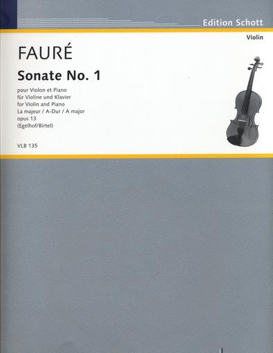 HAL LEONARD Faure, Gabriel (Birtel): Sonate No. 1, Op. 13 (violin & piano)