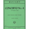 International Music Company Mozart (Joachim): Concerto No.4 in D Major, K.218 (violin & piano)