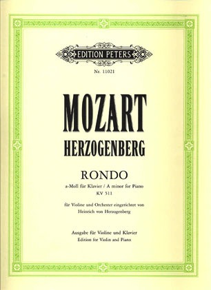 Mozart, W.A.: Herzogenberg Rondo KV 511 (violin & piano)