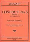 International Music Company Mozart, W.A. (Joachim): Concerto No. 5 in A Major K.219 ''Turkish'' (Violin & Piano)