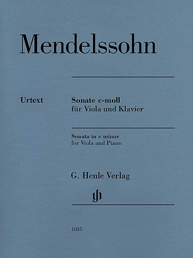 HAL LEONARD Mendelssohn, F. (Herttrich , ed.): Sonata in C Minor, urtext (viola & piano)