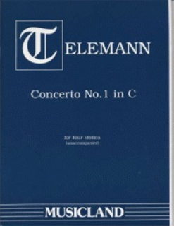 Telemann, G.P.: Concerto #1 in C-score & parts (4 violins)