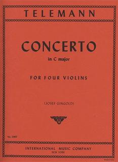 International Music Company Telemann, G.P.: Concerto in C Major (4 violins) IMC