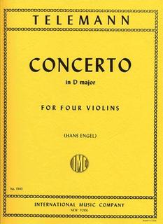 International Music Company Telemann, G.P.: Concerto in D Major (4 violins) IMC