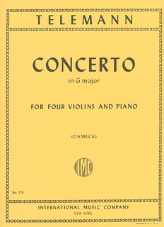 International Music Company Telemann, G.P.: Concerto in G major, score & parts (4 violins) IMC