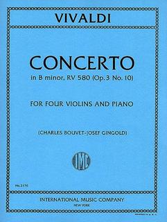 International Music Company Vivaldi, Antonio: Concerto for 4 Violins in B minor F.I No. 10 (4 violins, piano) IMC