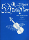 Alfred Music Halle, Roger: 52 Masterpieces for Violin & Piano in the First Position