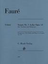 HAL LEONARD Faure, G. (Kolb, ed.): Sonata No.1 in A major, Op. 13, urtext (violin and piano)