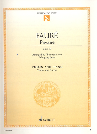 HAL LEONARD Faure, G. (Birtel, arr.): Pavane, Op. 50 (violin and piano)