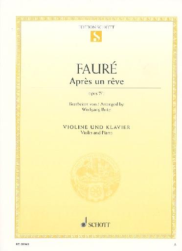 HAL LEONARD Faure, Gabriel: Apres un Reve, Op. 7 No. 1 (violin & piano)
