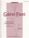 PETERS Faure, Gabriel: Anthology of Original Pieces (violin & piano) PETERS