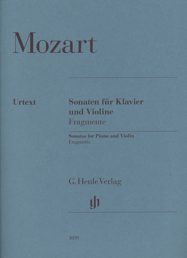 HAL LEONARD Mozart, W.A. (Seiffert, ed.): Fragments, urtext (violin and piano)