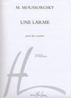 Carl Fischer Moussorgsky, Modeste: Une Larme (viola & piano)
