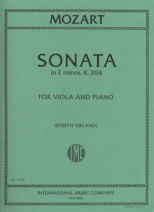 International Music Company Mozart, W.A. (Vieland): Sonata in E minor K.304 (viola & piano)