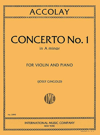 International Music Company Accolay, J.B. (Gingold): Concerto No.1 in A minor (Violin & Piano) IMC