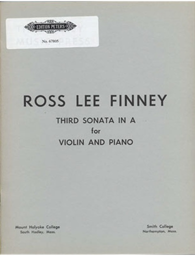 Finney, Ross Lee: Violin Sonata No. 3 in A (violin & piano)