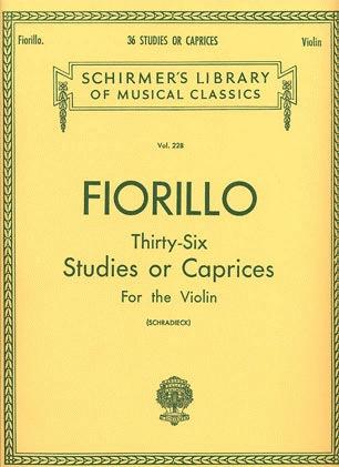 HAL LEONARD Fiorillo (Schradieck): 36 Studies or Caprices (violin)