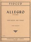 International Music Company Fiocco, J.H. (Gingold): Allegro (violin & piano)