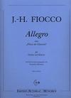 Fiocco, J.H.: Allegro (violin & piano)