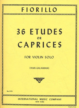 International Music Company Fiorillo, F. (Galamian): 36 Etudes or Caprices (violin)