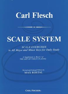 Carl Fischer Flesch (Rostal): Scale System (violin) Carl Fischer