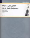 Mussorgsky, Modeste: Air de Boris Godounov (violin & piano)