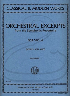 International Music Company Vieland: Orchestral Excerpts from the Symphonic Repertoire for Viola, Vol.1 (viola) International