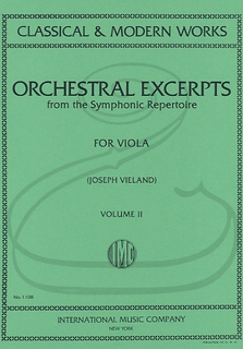 International Music Company Vieland: Orchestral Excerpts from the Symphonic Repertoire for Viola, Vol.2 (viola) International