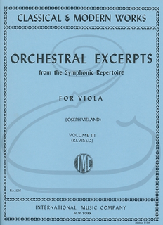 International Music Company Vieland: Orchestral Excerpts from the Symphonic Repertoire for Viola, Vol.3 - REVISED (viola) International