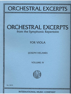International Music Company Vieland: Orchestral Excerpts from the Symphonic Repertoire for Viola Vol.4 (Viola)