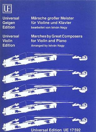 Nagy, Istvan (arr): Marches by Great Composers (violin & piano)