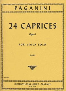 International Music Company Paganini, N. (Raby): 24 Caprices Op.1 (viola) IMC