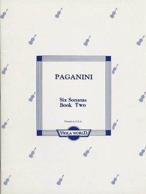 Paganini, Niccolo (Arnold): Six Sonatas Book 2 (Viola)