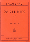 International Music Company Palaschko, Johannes: Twenty Studies for Viola Op.36