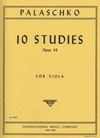 International Music Company Palaschko, Johannes: 10 Studies for Viola Op.49