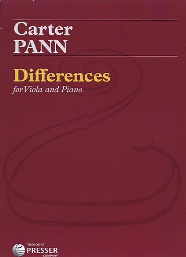 Carl Fischer Pann: (score/parts) Differences (viola & piano) Theodore Presser