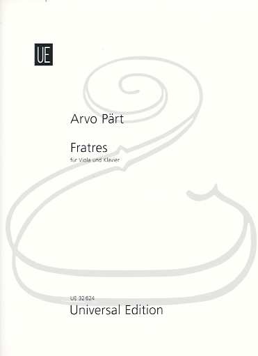 Carl Fischer Part: Frates (viola & piano) Universal Edition