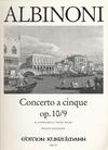 Albinoni, T.: Concerto Op10/9 in F (violin & piano)