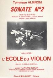 Carl Fischer Albinoni, T.: Sonata No. 2 (violin & piano) 2- 5 weeks special order