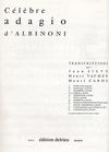 Edition Delrieu Albinoni (Silvey): Adagio (violin & piano)