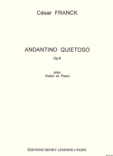 Carl Fischer Franck, Cesar: Andante Quietoso Op.6 (violin & piano)