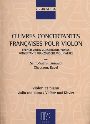 HAL LEONARD French Violin Concert Works-Oeuvres Concertantes Francaises (violin & piano)