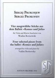 HAL LEONARD Prokofiev, Sergei (Borisovsky): Four Pieces from Romeo & Juliet (viola & piano)