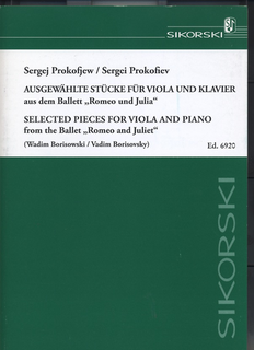 HAL LEONARD Prokofiev (Borisovsky): Selected Pieces from the ballet ''Romeo & Juliet'' (viola & piano)
