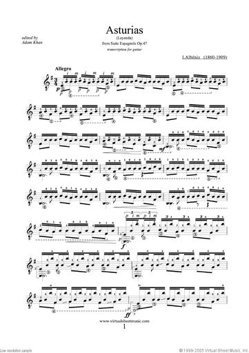 Albeniz, Isaac: Asturias: Leyenda from Suite espagnola for Solo Violin